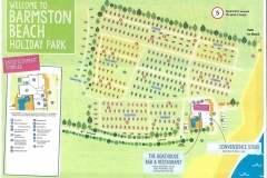 Site Map of Barmston Beach Caravan Park